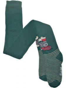 Теплые махровые колготки для мальчика Конте зеленые 232