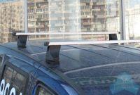 Багажник на крышу Лада Ларгус, Атлант, прямоугольные дуги