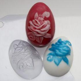 Форма для мыла Яйцо/Роза