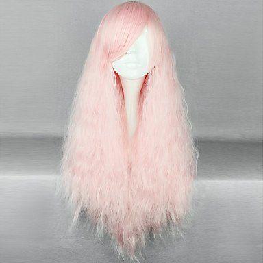Парик розовый волнистый Лолита