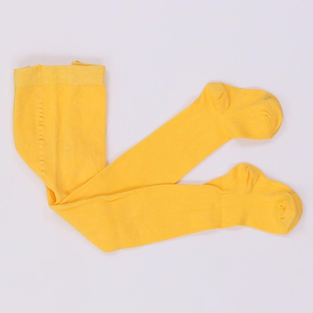 Колготки для девочки светло-желтые