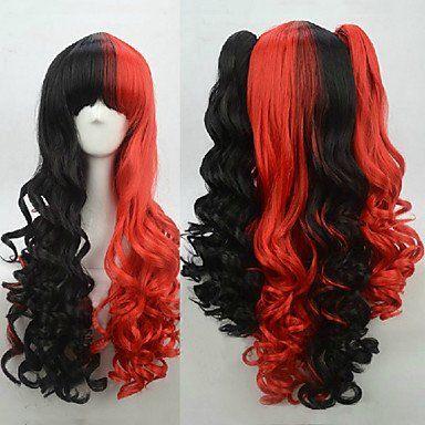 Красно-черный парик