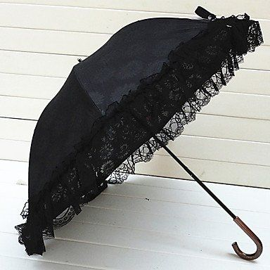 Зонт с подсолнухами и черными кружевами