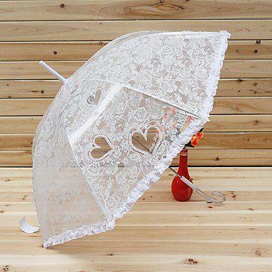 Зонтик с кружевами и сердечками