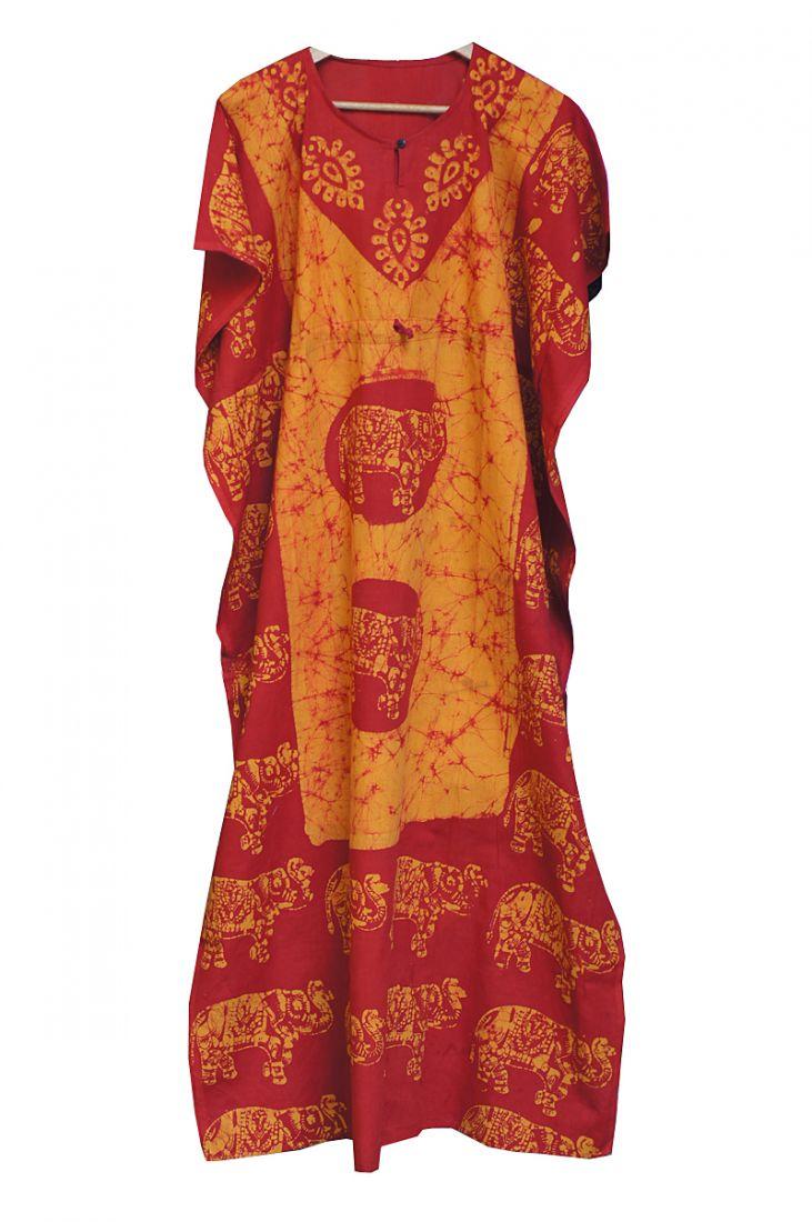 Длинное индийское безразмерное платье (отправка из Индии)