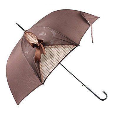 Зонтик в стиле ретро коричневый
