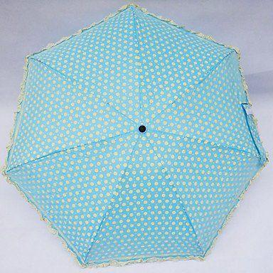 Зонтики в белый горошек