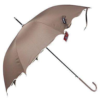 Зонт коричневый с волнистыми краями