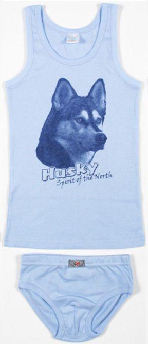 Синий комплект для мальчика Хаски