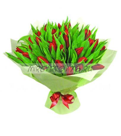 """Букет """"Ориэлло"""" 49 тюльпанов"""