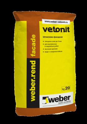 Weber rend facade шпатлевка цементная (20 кг)