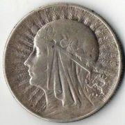5 злотых. 1933 год. Серебро.