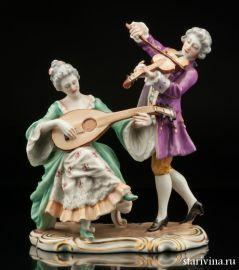 Дуэт, скрипка и мандолина, Capodimonte, Италия, сер 20 века