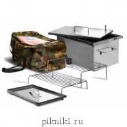 """Коптильня """"Эконом"""" с гидрозамком 40*30*20 см из стали AISI430 1,0 мм"""