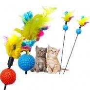 """Игрушка для кошек Удочка-дразнилка """"Перо на шарике"""""""