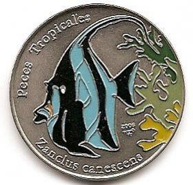 Рыба Мавританский идол 1 песо Куба 2006