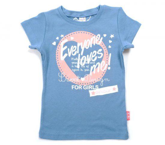 Голубая майка для девочки For Girls