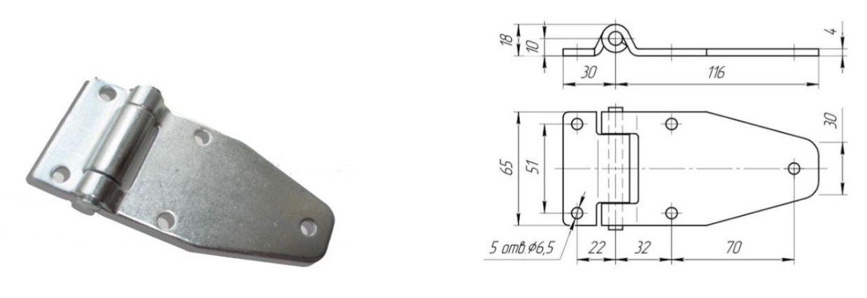 Петля 116 мм SS (Арт: 41350)
