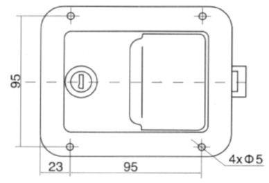 Замок врезной клавишный для ворот (Арт: 03031)