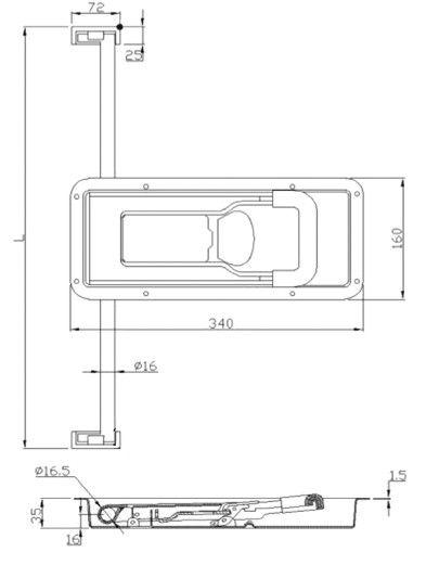 Замок штанговый для ворот под трубу D=16 мм (Арт: 011600)