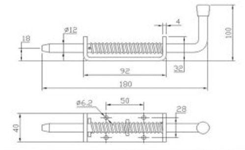 Защелка - фиксатор длина - 180 мм (Арт: 023200)