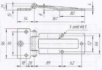 Петля дверей L=161 мм (Арт: 030900S)