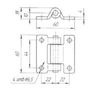 Петля дверей L=30 мм (Арт: 030100)