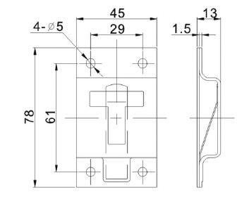 Фиксатор ворот Т-образный (Арт: 151091)