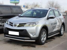 Пороги с площадкой  43 мм (TRN 13-2.1) для Toyota Rav 4 2013 -