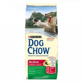 DOG CHOW ACTIVE для активных взрослых собак Курица и Рис 14 кг