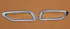 Хромированные накладки на задние противотуманные фары для Toyota Rav 4 2013 -