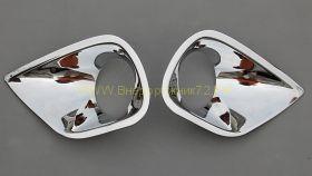 Хромированные накладки на передние противотуманные фары для Toyota Rav 4 2013 -