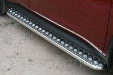 Боковые подножки Souz-96, нерж. сталь ф 42мм