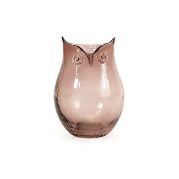 Стеклянная ваза в виде совы Quilly (малая)