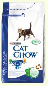 CAT CHOW FELINE 3 in 1 сухой 15кг для кошек тройная защита с Индейкой