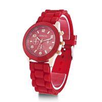 Часы красного цвета UNISEX GENEVA CLASSIC