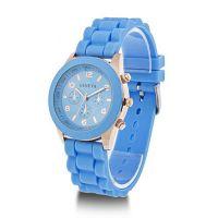 Часы голубого цвета UNISEX GENEVA CLASSIC
