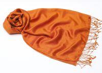 Оранжевый шарф шёлк шерсть, 1450 руб.