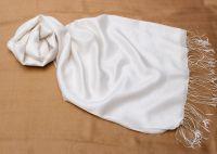 Белый шарф палантин шёлк шерсть, 1800 руб.