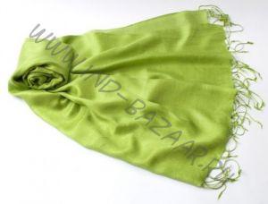 """Зеленое яблоко, шарф-палантин """"Шелковая нега"""""""