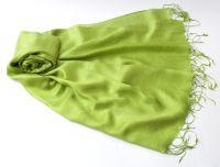 Салатовый шарф цвета Зеленое яблоко, шёлк, 1450 руб.