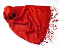 Красный (алый) шёлковый шарф палантин, 1450 руб.
