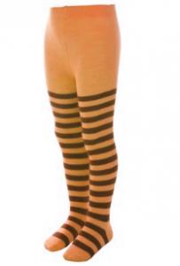 Колготки морковные в полоску
