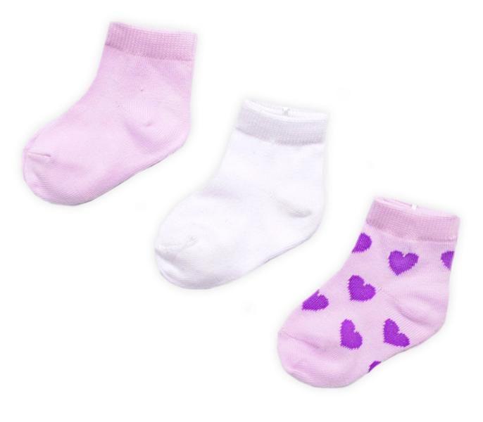 Комплект носков для девочки Сердечки