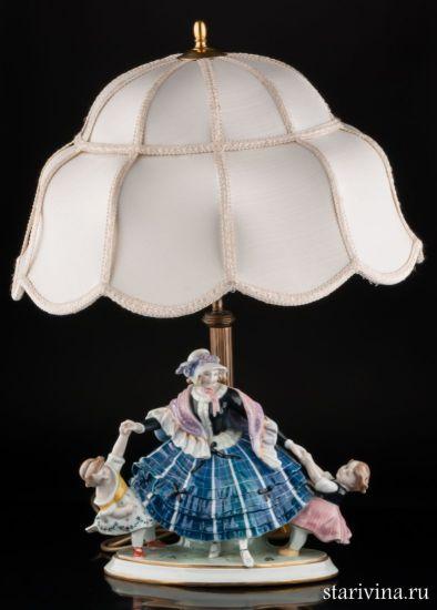 Изображение Дама с девочками (лампа), Karl Ens, Германия, 1920-30 гг