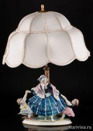 Дама с девочками (лампа), Karl Ens, Германия, 1920-30 гг., артикул 00924