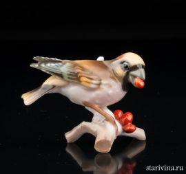 Птица Дубонос, миниатюра, Hutschenreuther, Германия, 1970 гг., артикул 00918