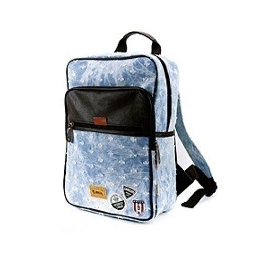 """Джинсовый рюкзак """"Western Badge"""" - Holes Light Blue"""