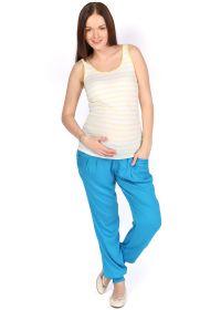 Брюки БШ01 голубые для беременных