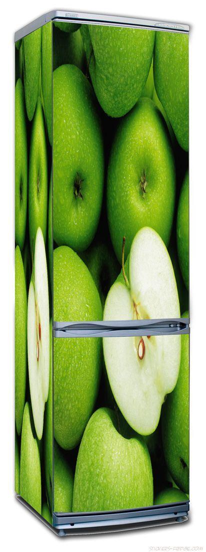 Наклейка на холодильник - Яблоки